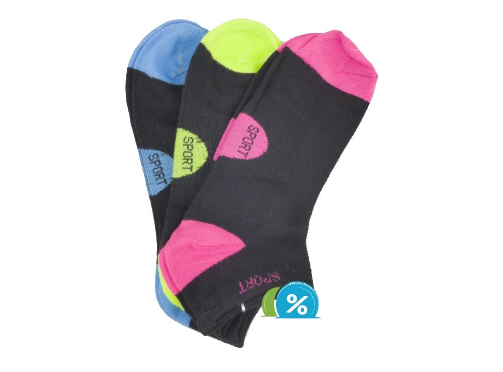 Dámské kotníkové bavlněné ponožky Pesail LW089 - 3 páry 43d02e5da6