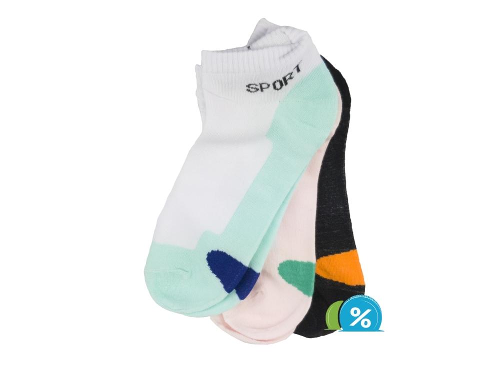 Dámské kotníkové bavlněné ponožky Pesail LW085 - 3 páry 0849974f8c